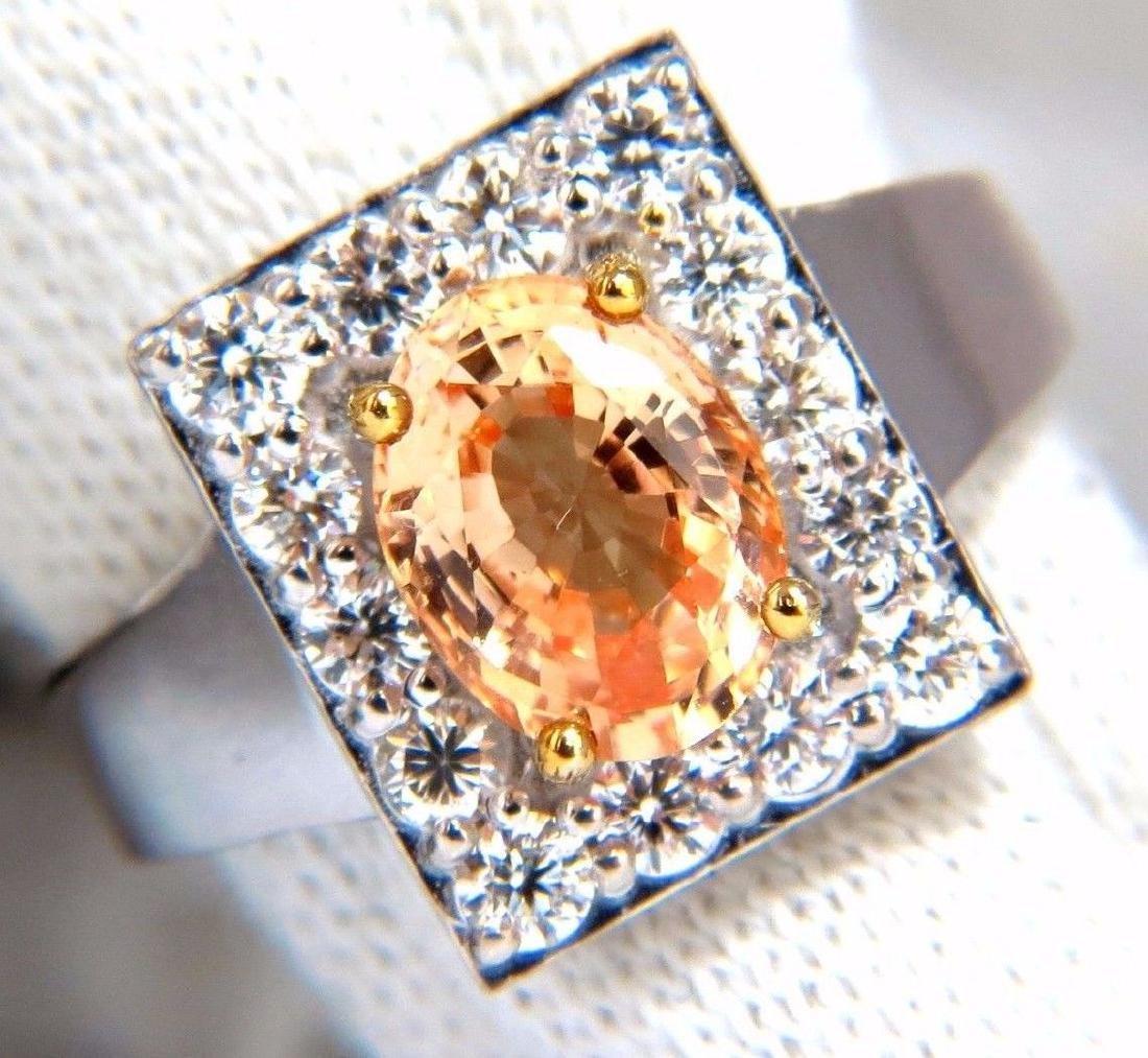 GIA 2.96CT NATURAL YELLOW ORANGE SAPPHIRE DIAMONDS
