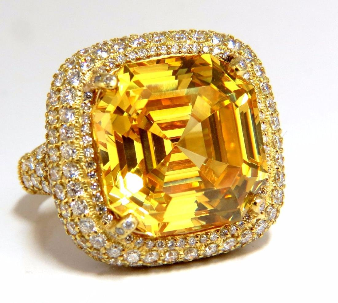 Authentic Judith Ripka Canary Yellow Quartz diamonds