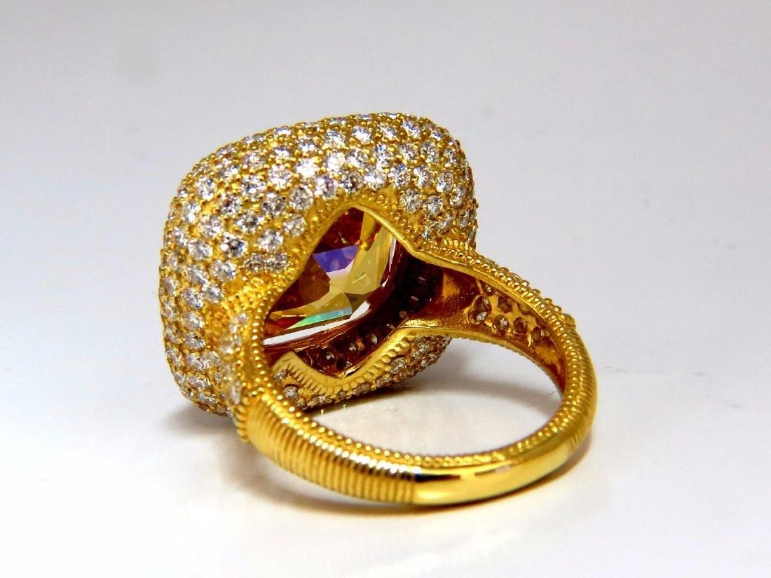 Authentic Judith Ripka Canary Yellow Quartz diamonds - 3