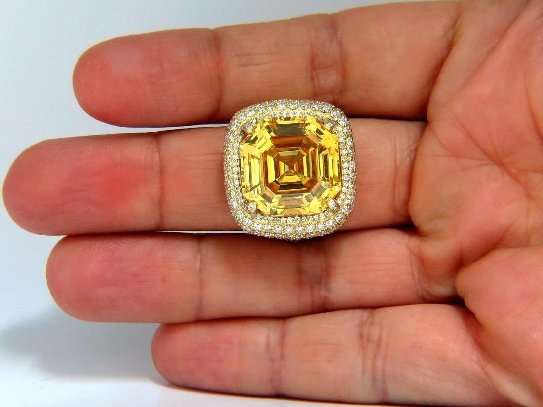 Authentic Judith Ripka Canary Yellow Quartz diamonds - 5