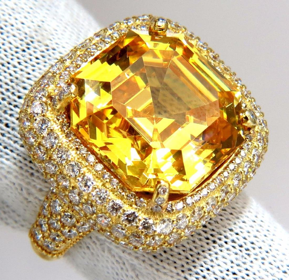 Authentic Judith Ripka Canary Yellow Quartz diamonds - 6