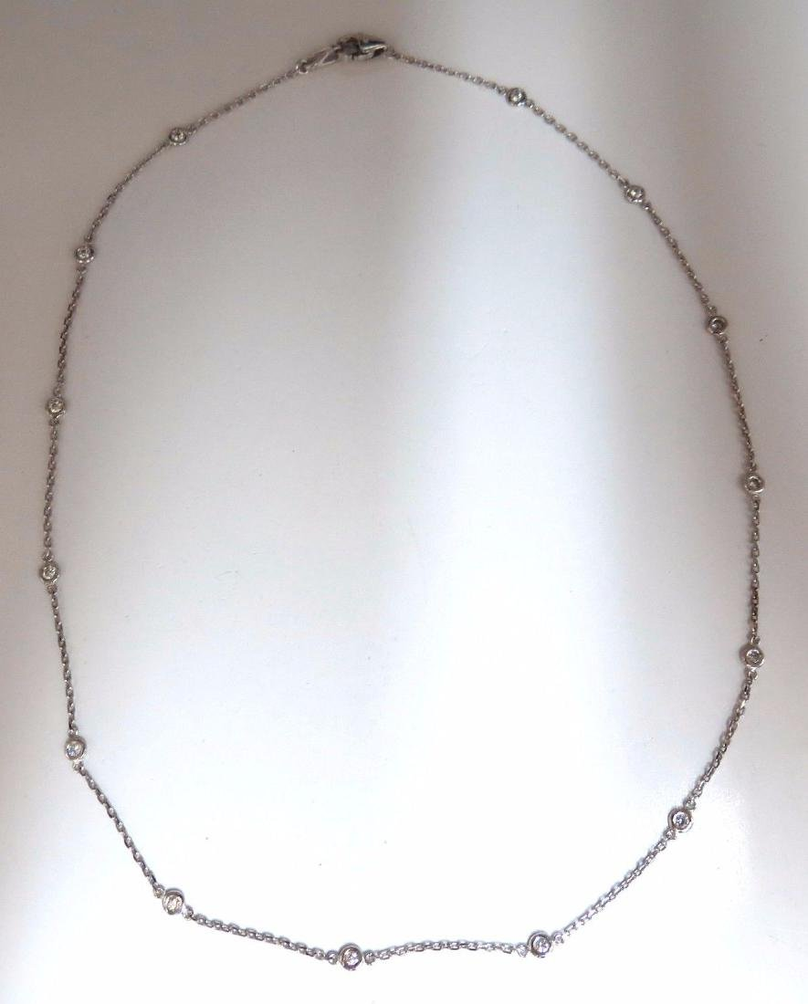 .50ct diamonds station yard necklace 14kt 16 inch - 2