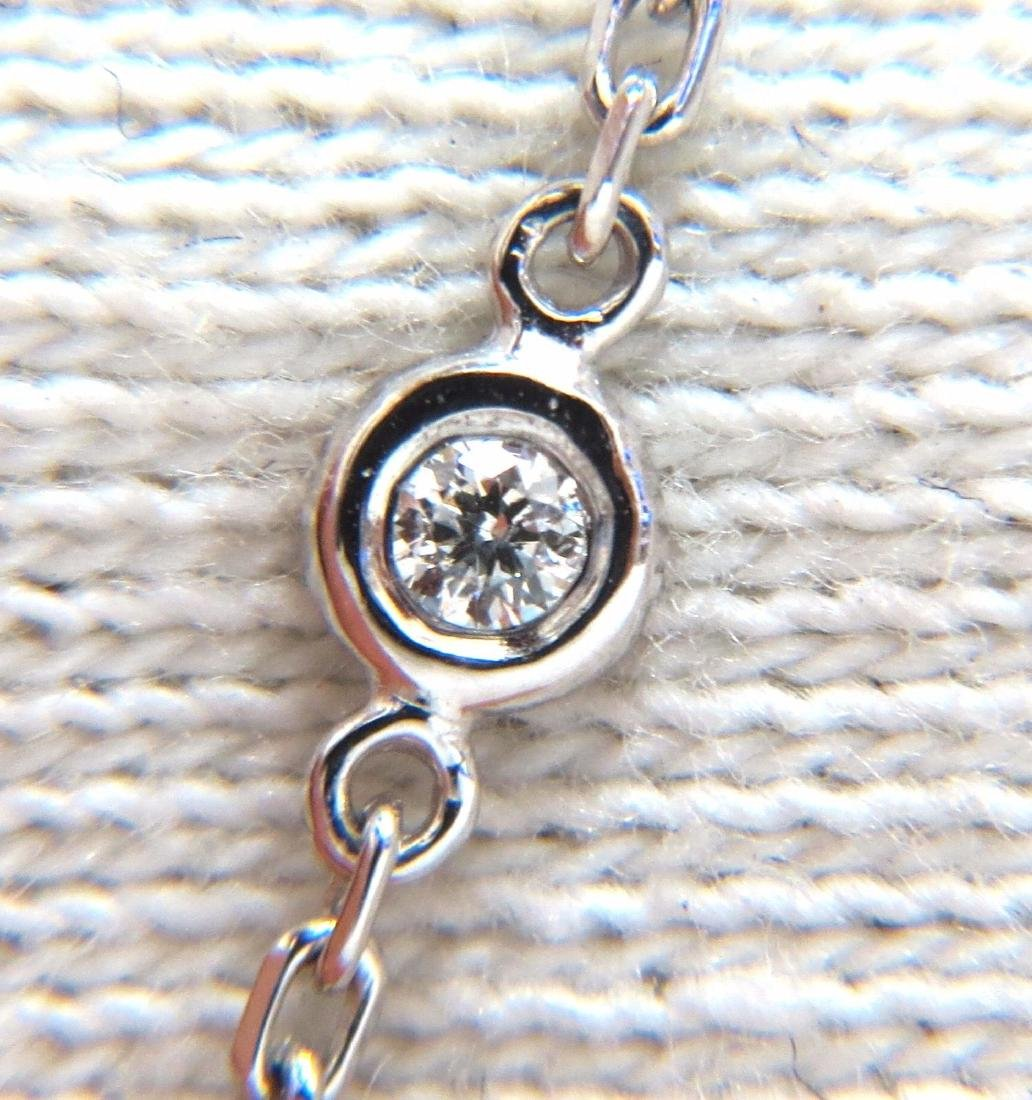 .50ct diamonds station yard necklace 14kt 16 inch - 4
