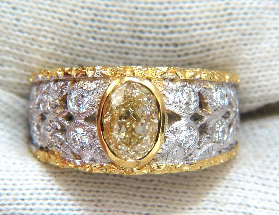 GIA Certified 1.95ct Natural Yellow Diamond Ring 18Kt - 10