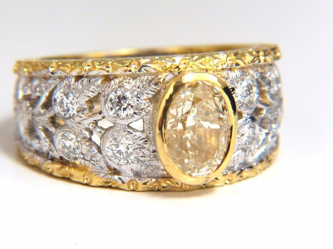 GIA Certified 1.95ct Natural Yellow Diamond Ring 18Kt