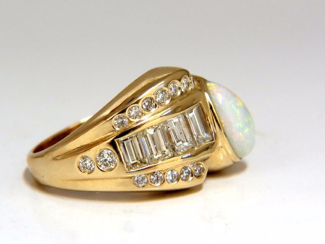2.80ct Natural Australia Opal Diamond Ring 14kt - 2
