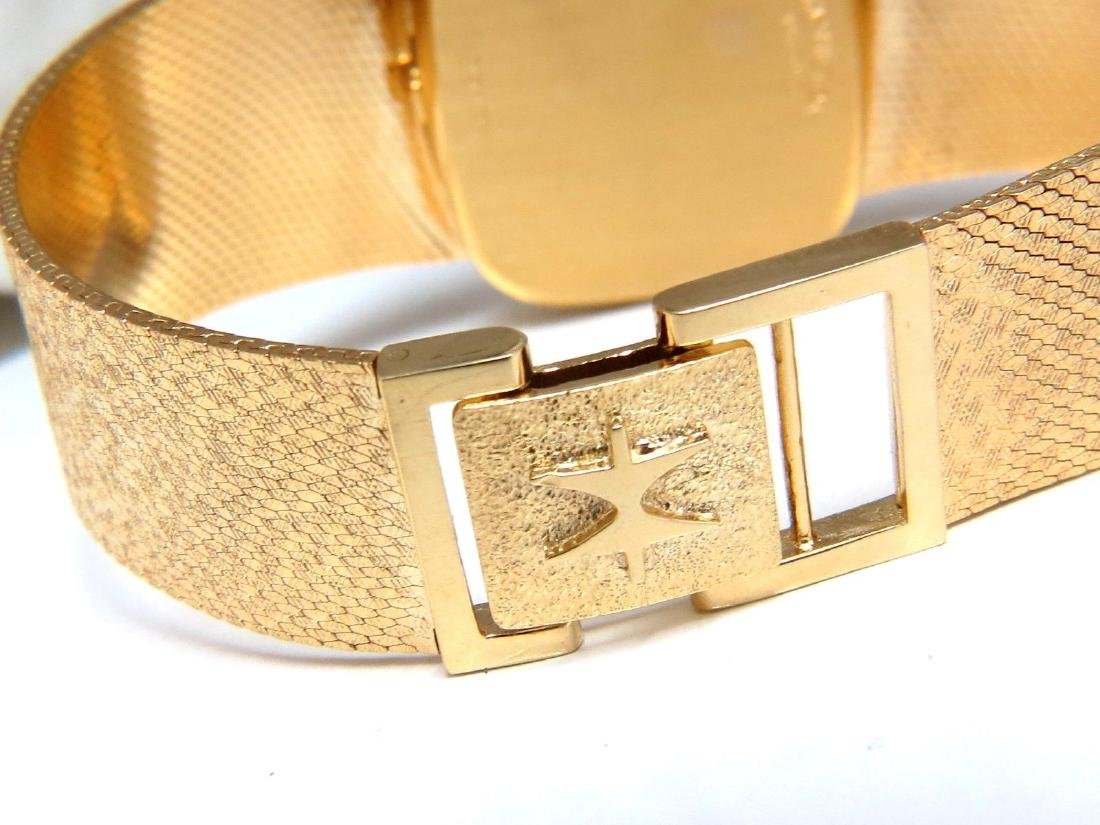 14kt Hamilton Mens Gold Watch .36 diamonds - 3