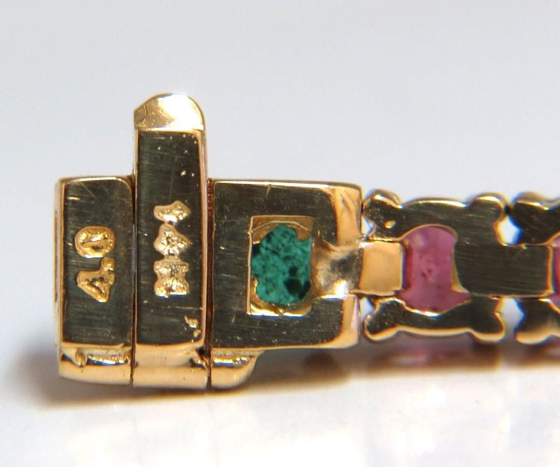 12ct natural ruby emerald sapphire tennis bracelet 14kt - 2