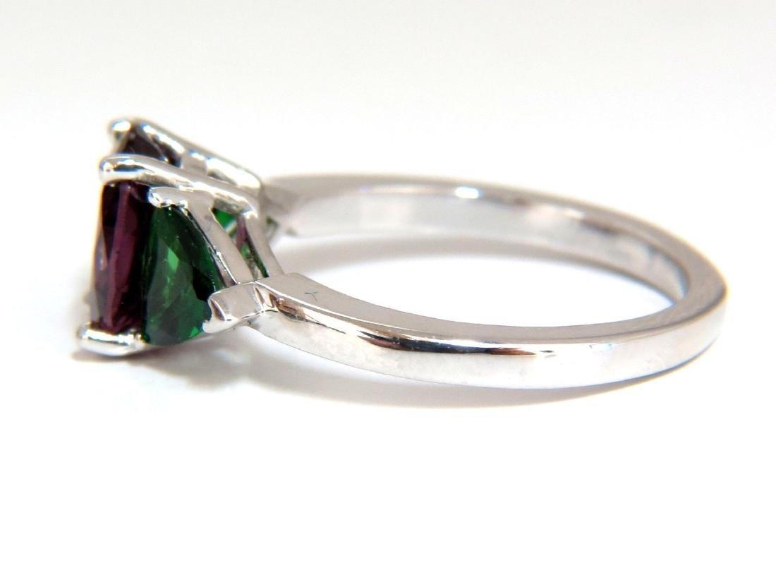 2.94ct Natural Vivid Purple Spinel Green Tsavorite Ring - 2