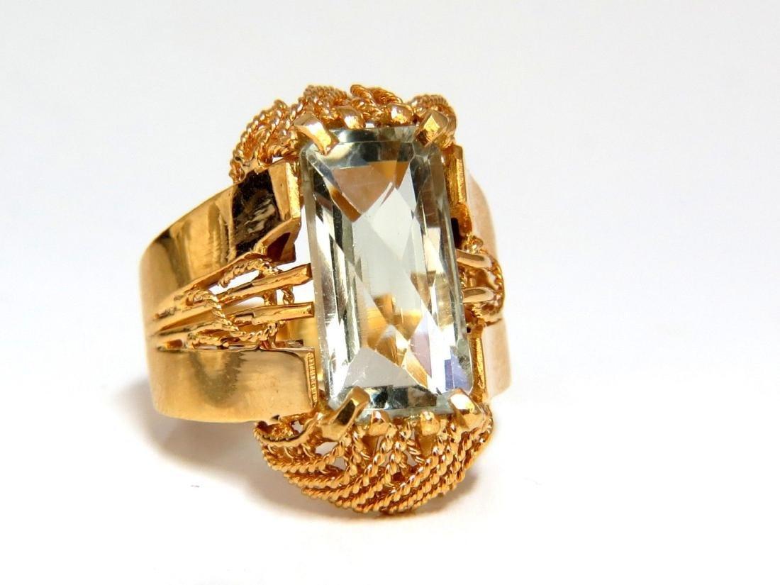 6.40ct Natural Green Amethyst Ring Vintage