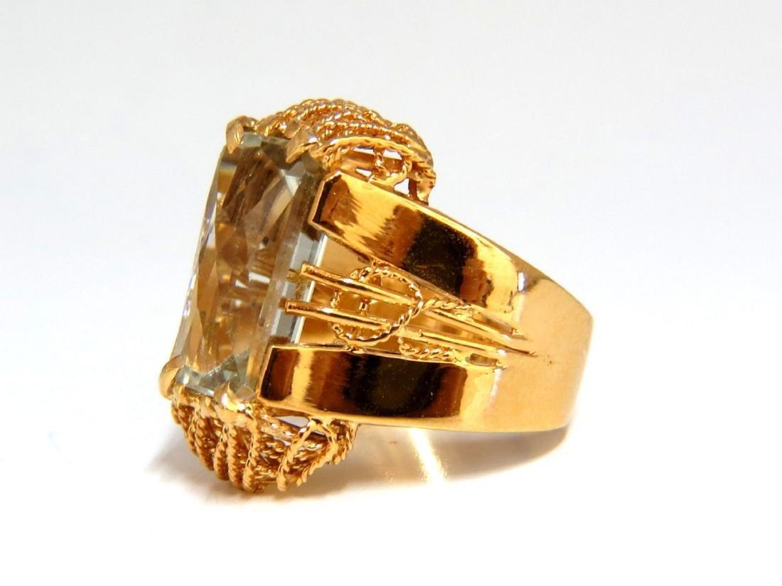 6.40ct Natural Green Amethyst Ring Vintage - 3