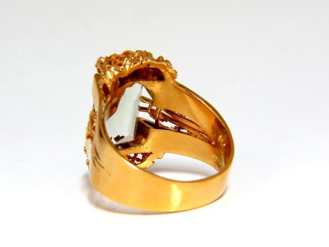 6.40ct Natural Green Amethyst Ring Vintage - 5