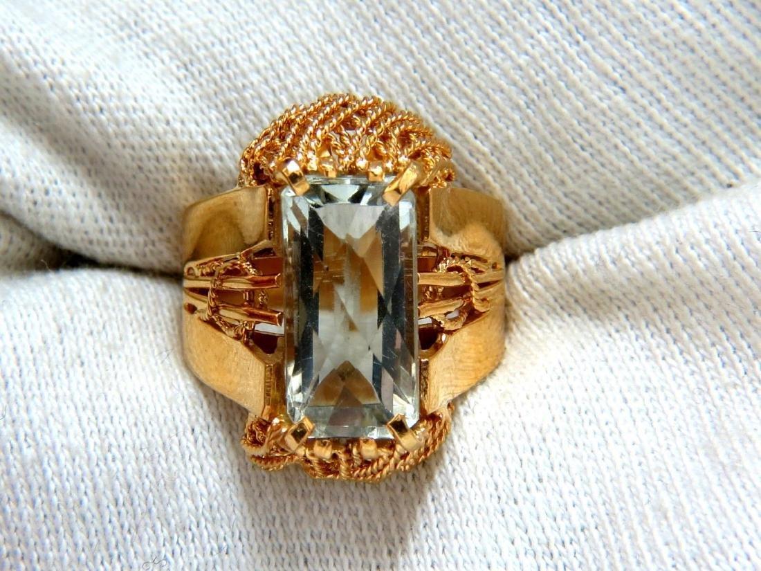 6.40ct Natural Green Amethyst Ring Vintage - 6