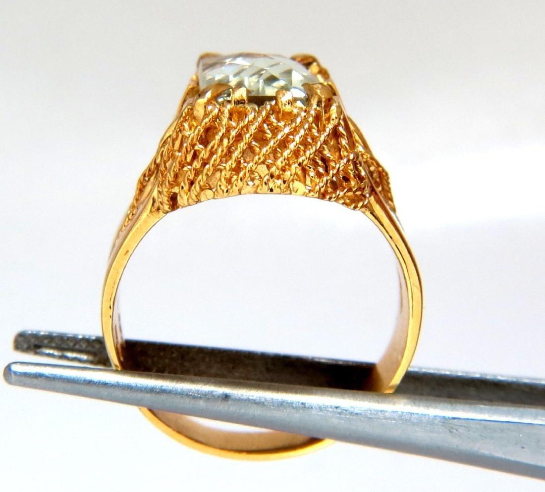 6.40ct Natural Green Amethyst Ring Vintage - 7