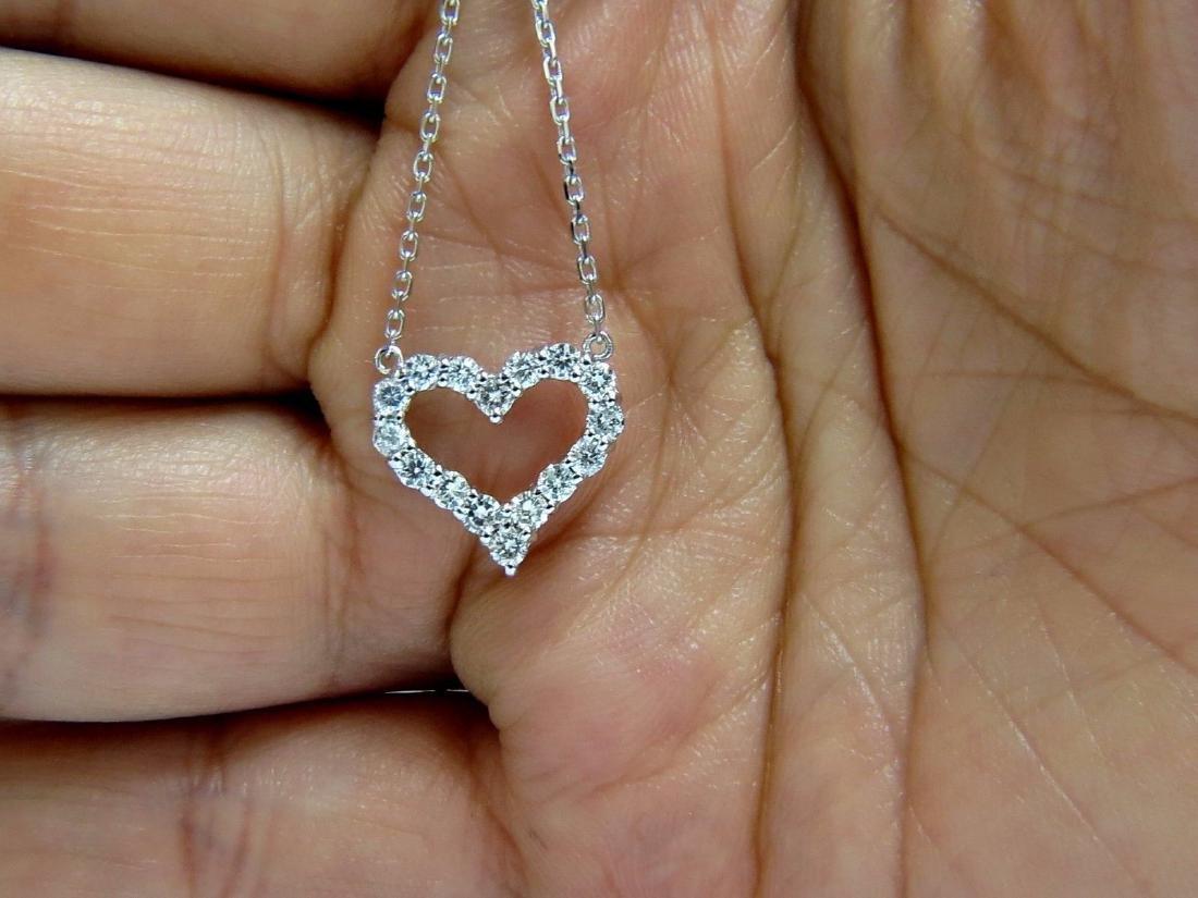 .68CT NATURAL DIAMONDS HEART PENDANT G/VS 14KT - 3