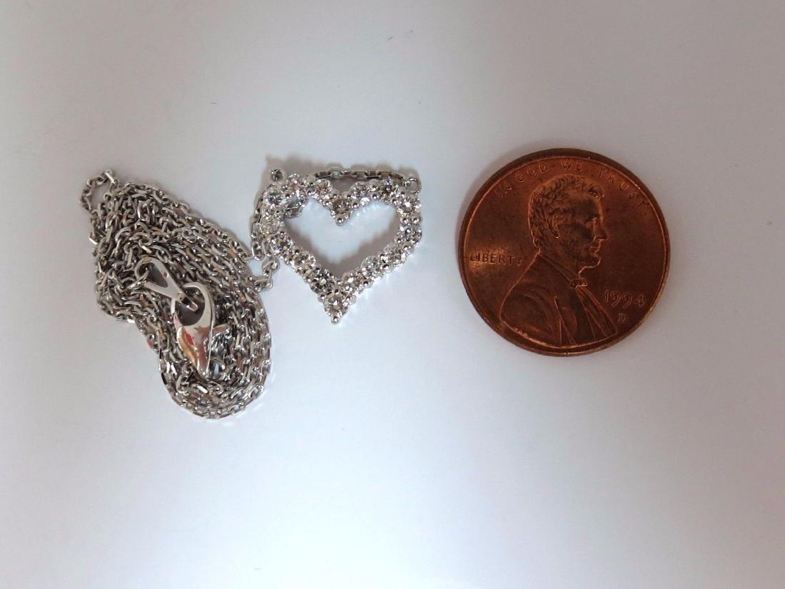 .68CT NATURAL DIAMONDS HEART PENDANT G/VS 14KT - 4