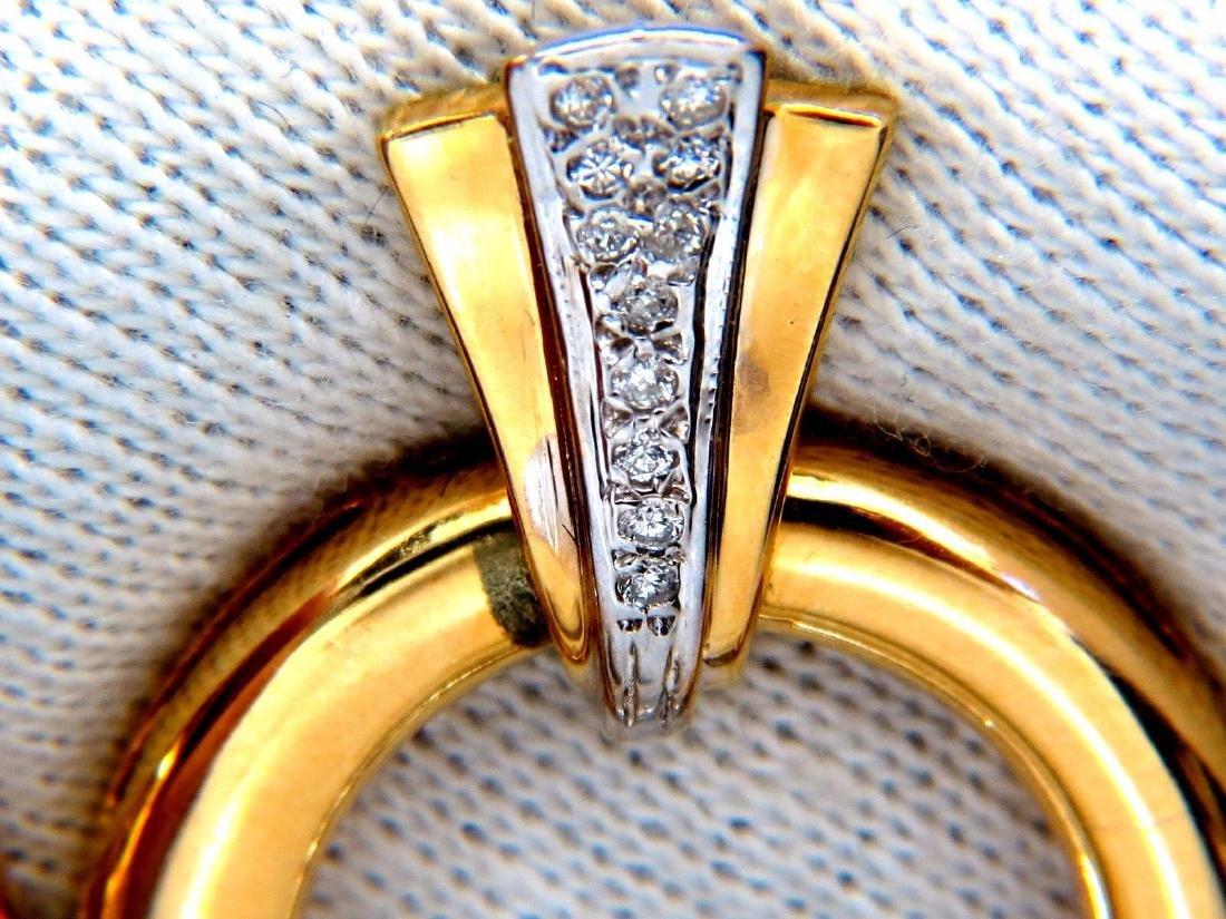 .80ct natural diamonds circular knocker deco earrings - 3