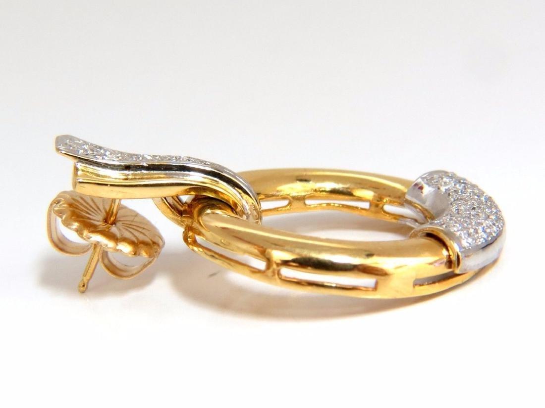 .80ct natural diamonds circular knocker deco earrings - 5
