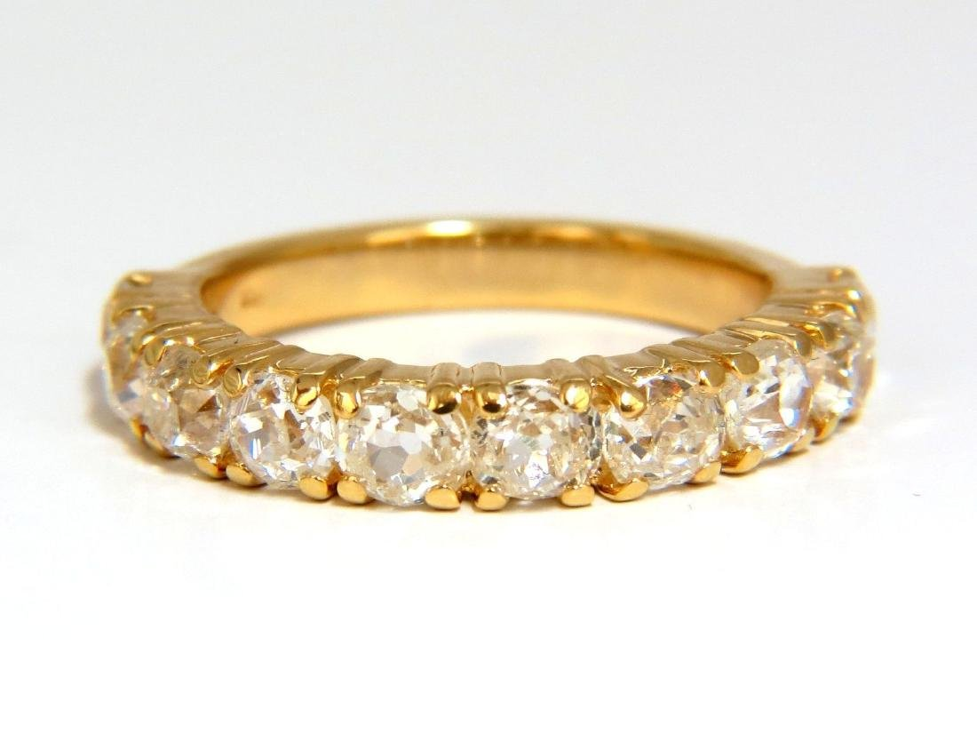 2.00ct NATURAL CUSHION CUT OLD MINERS HALFWAY DIAMONDS - 2