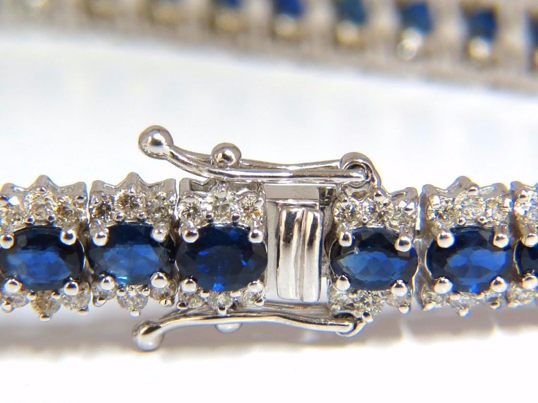13.60ct natural sapphire diamonds tennis bracelet 14kt - 2