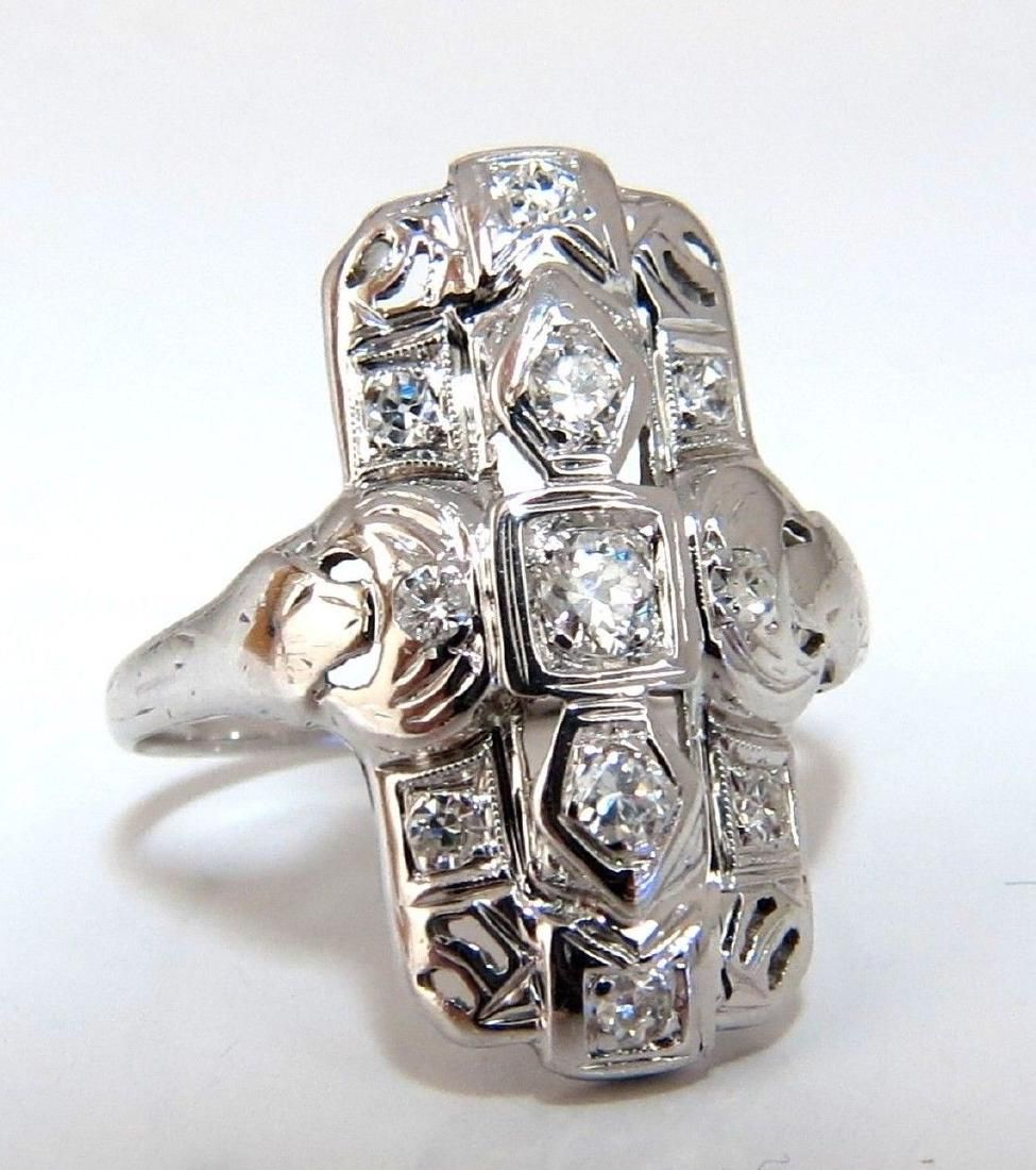 .40ct Natural Diamonds Art Deco Restored Ring 14 Karat