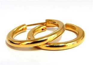 5775adb12 14kt 1.75 inch gold hoop earrings twist lightweight