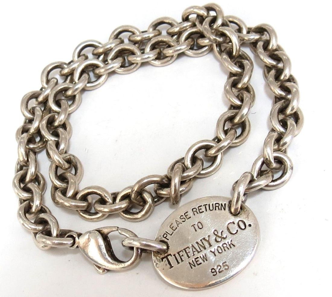Return to Tiffany & Co Sterling silver necklace