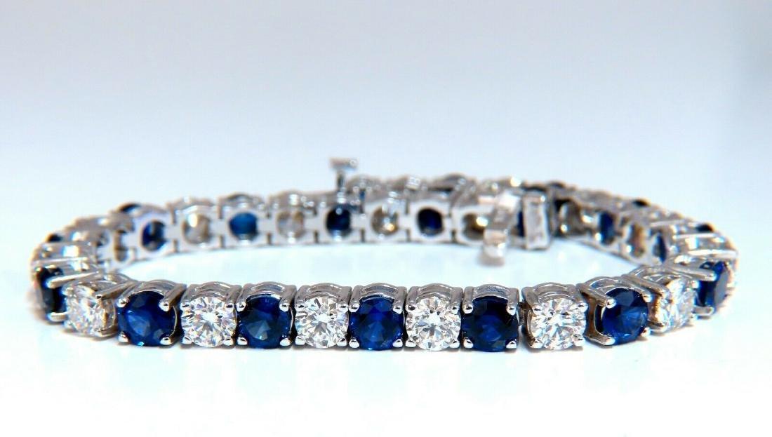 13.48ct natural Vivid royal blue round sapphires diamon