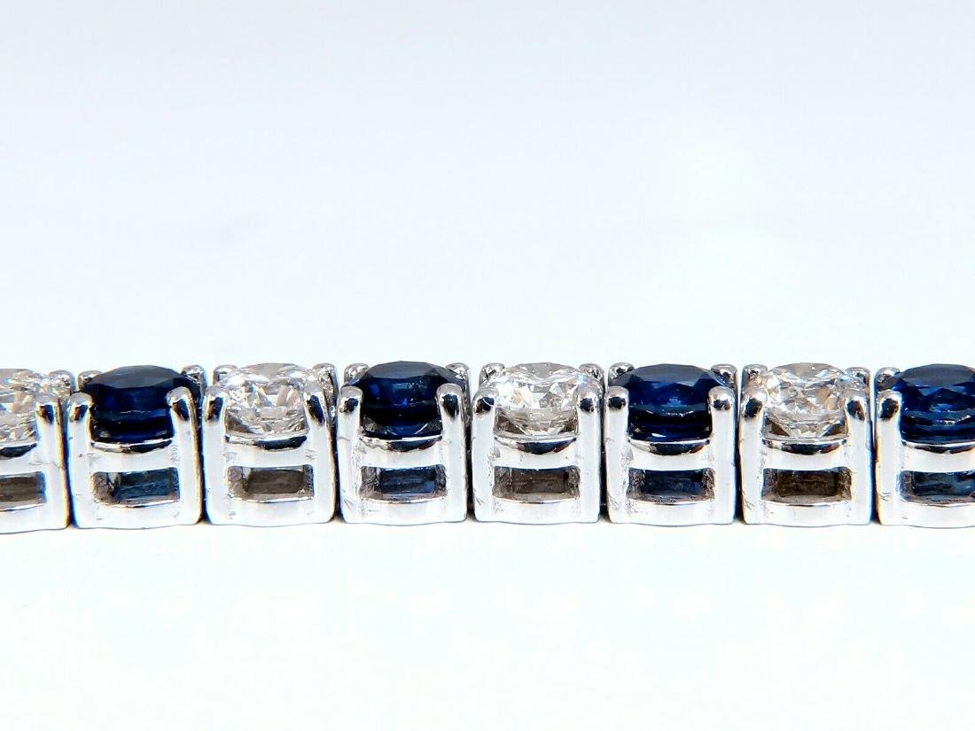 13.48ct natural Vivid royal blue round sapphires diamon - 2