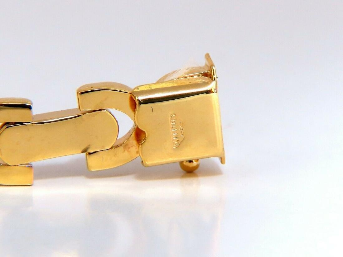 Gold Italian X Link Bracelet two tone 14 Karat - 2