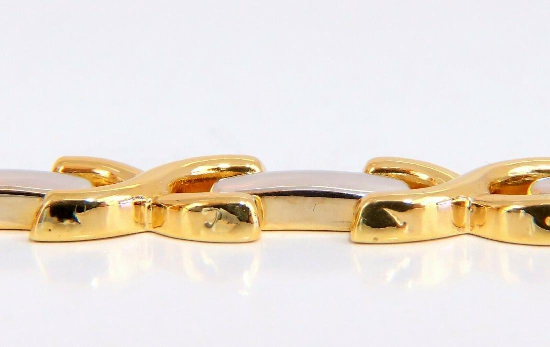 Gold Italian X Link Bracelet two tone 14 Karat - 3