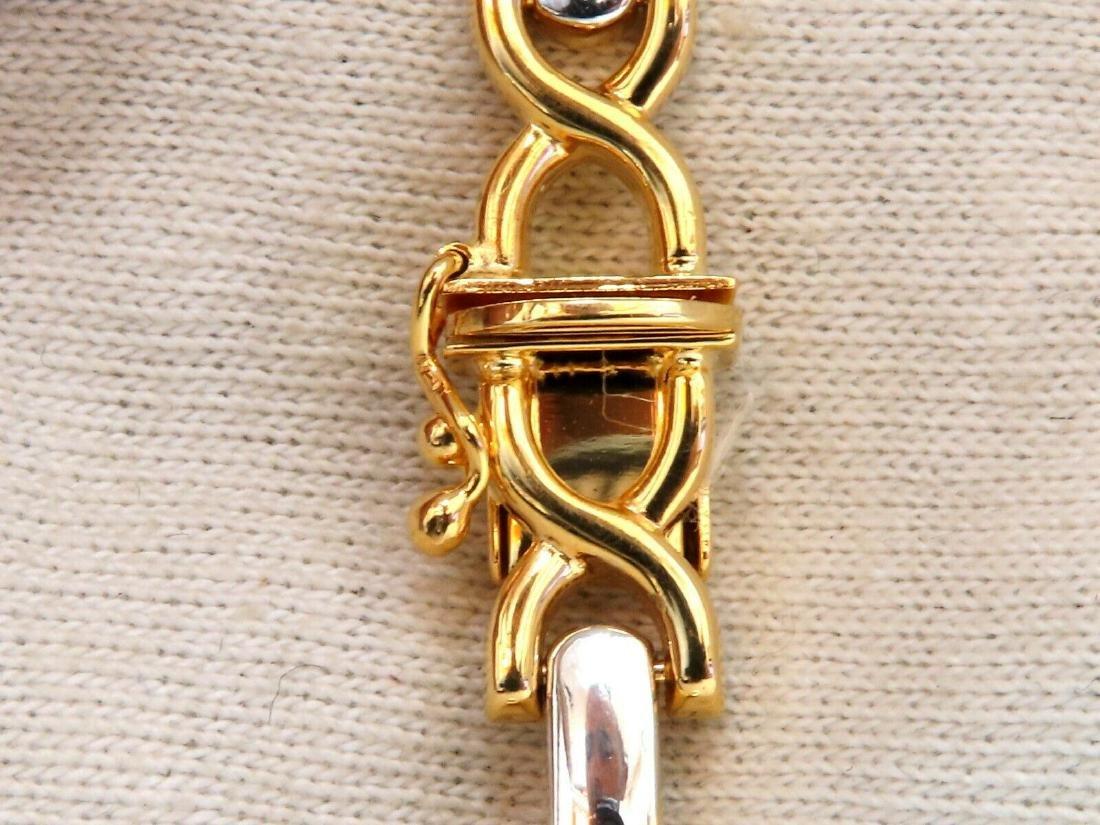 Gold Italian X Link Bracelet two tone 14 Karat - 6