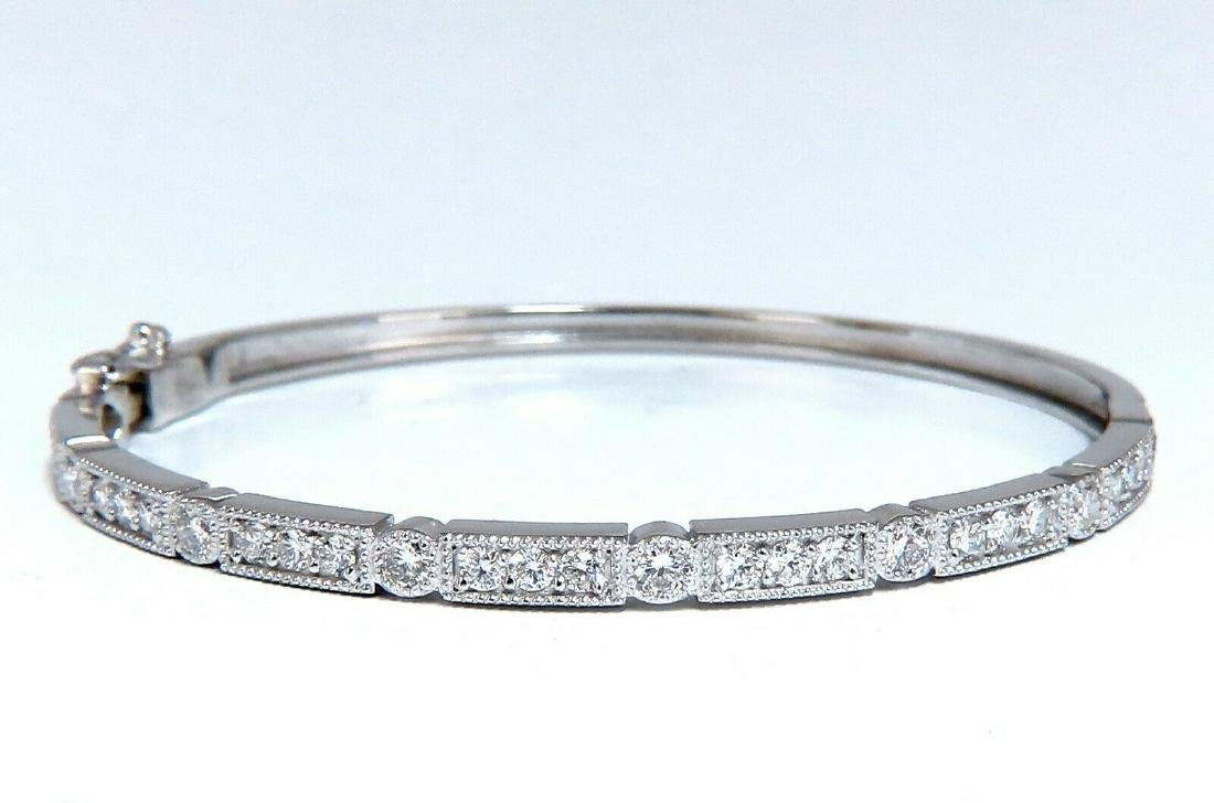 1.60ct Natural Diamonds Bangle Bracelet Edwardian Deco