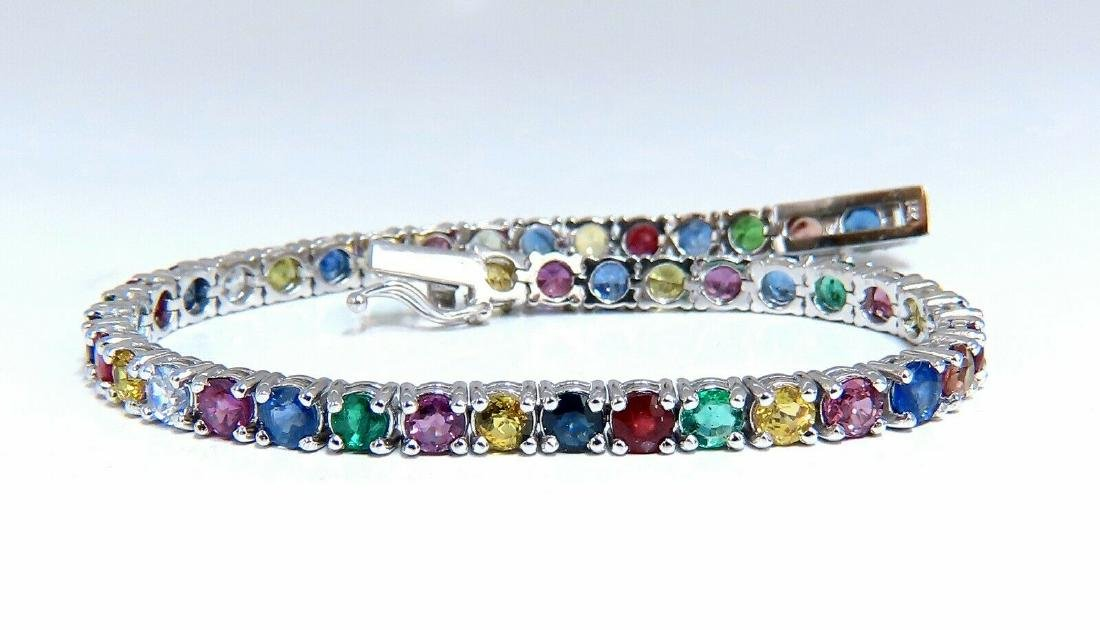 6ct natural ruby emerald sapphires diamond tennis brace