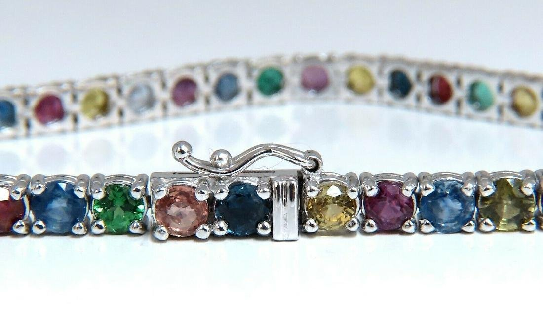 6ct natural ruby emerald sapphires diamond tennis brace - 2