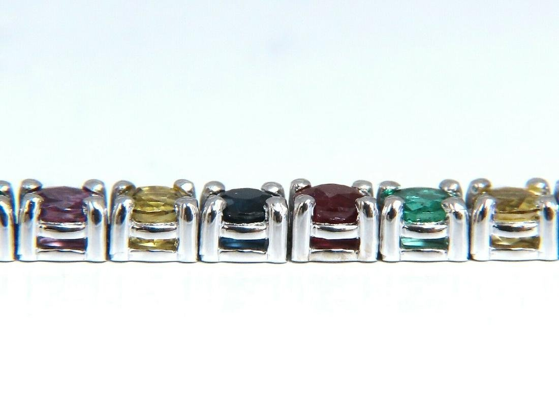 6ct natural ruby emerald sapphires diamond tennis brace - 3