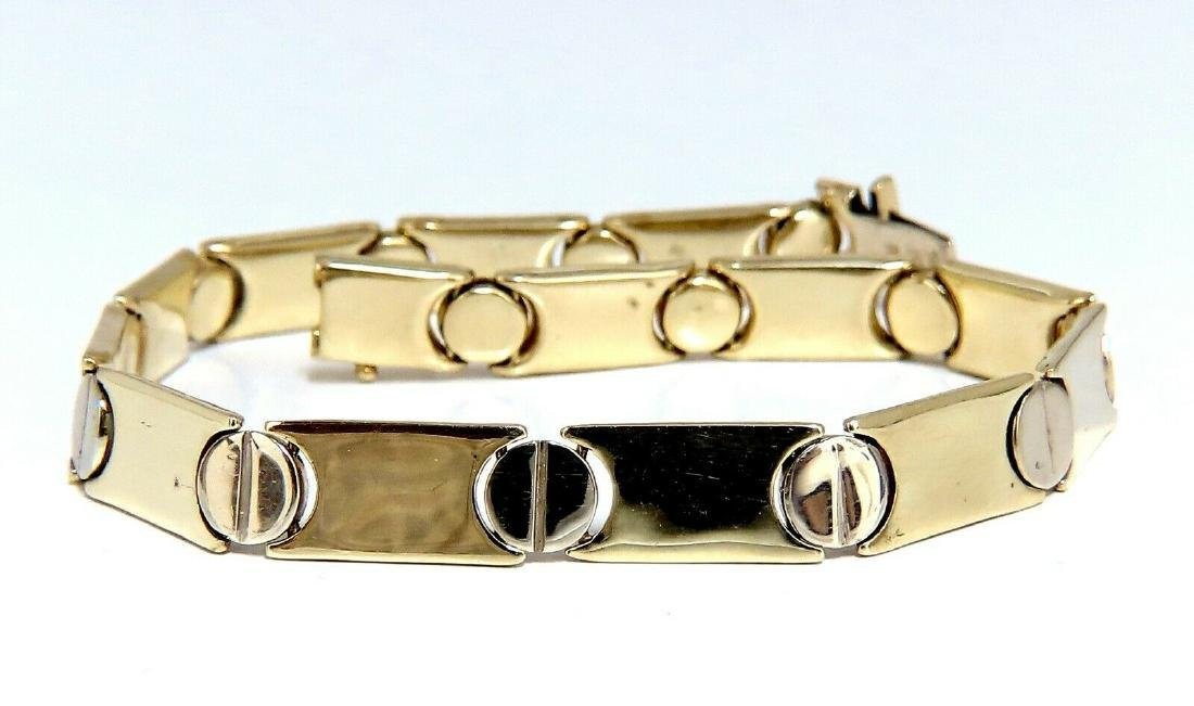 Gold Italian Screw Link Bracelet 14 Karat