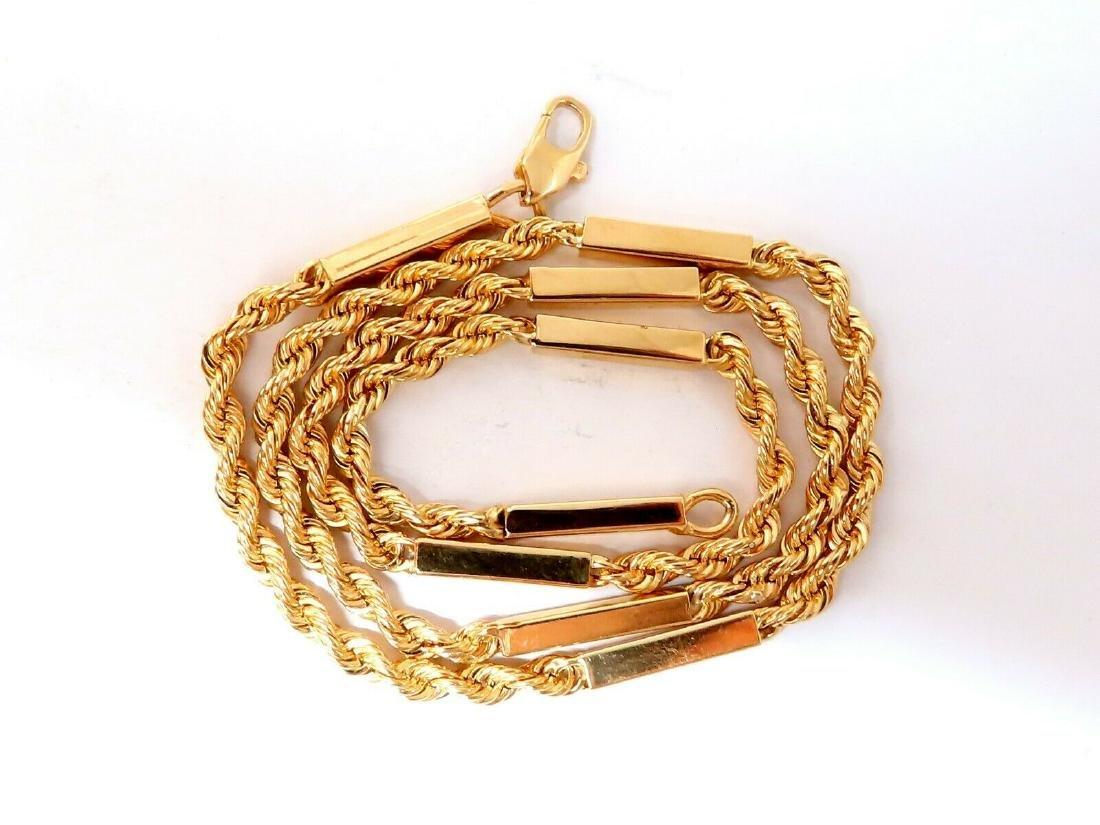 14 Karat Gold Vintage Rope & Bar Chain