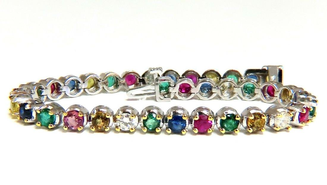 7.36ct natural ruby emerald sapphires diamond tennis