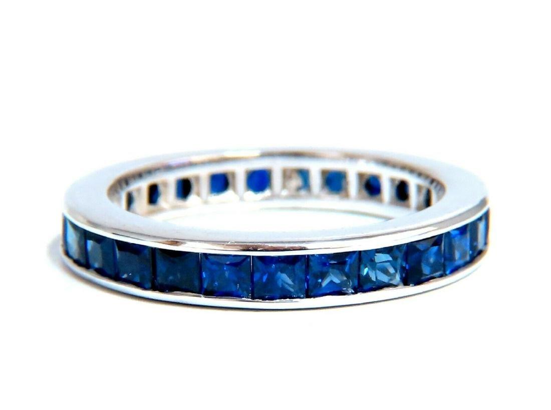 2.50ct Natural Royal Vivid Blue Sapphire Eternity Band