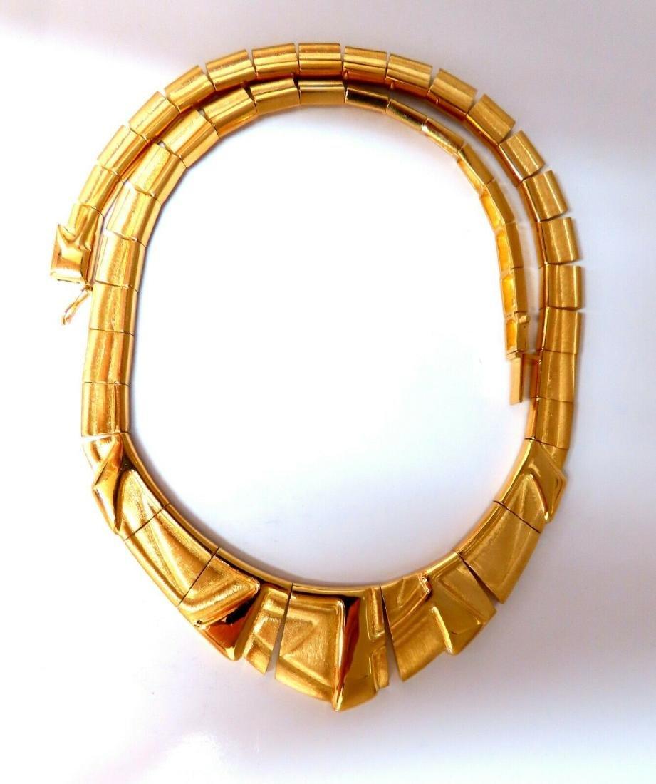 Bruno Guioi Brazil 18 Karat Gold Geometric Pattern Neck
