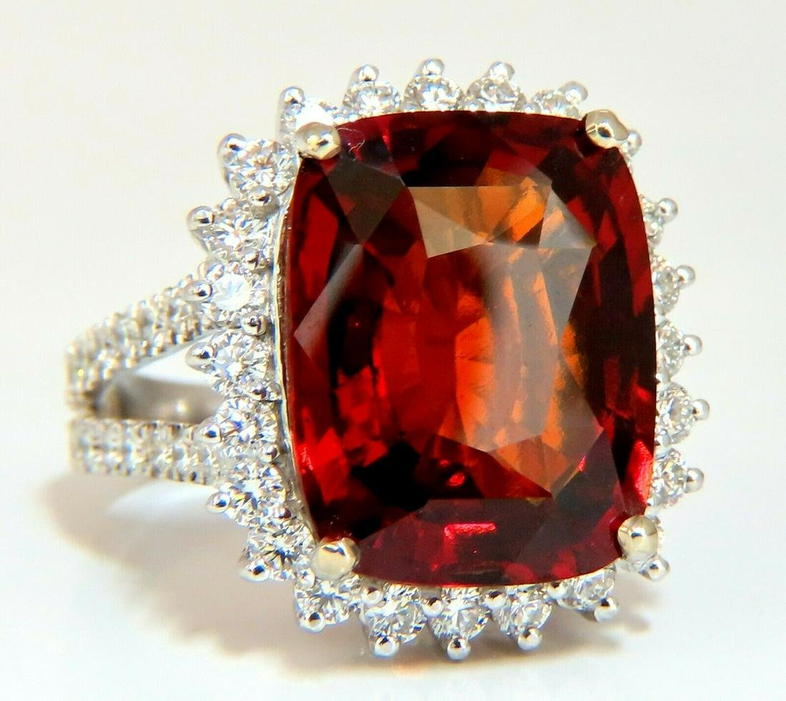 0c08a8fd0c665 GIA Certified 15.37ct Natural Hessonite Garnet Diamonds