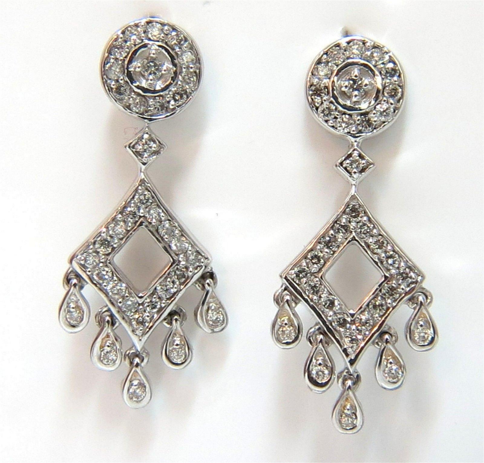 .50ct diamonds petite chandelier dangle earrings 14 kt