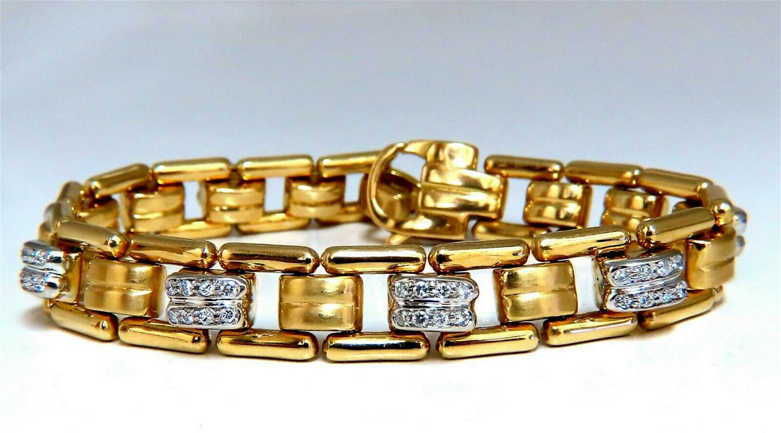 .80ct Natural Masculine Mod Durable Hinged Bracelet 14k