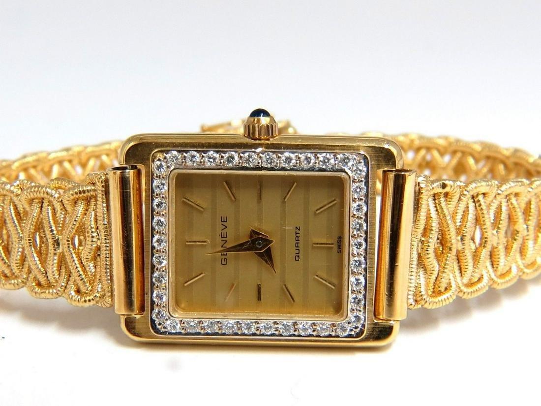 Vintage Geneve Swiss Quartz .36ct Diamonds watch