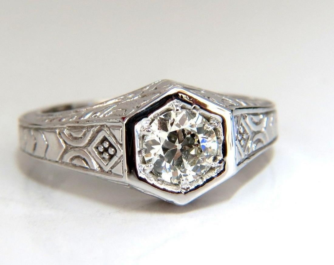 .70ct Vintage Old Mine Cut Diamonds ring 14kt