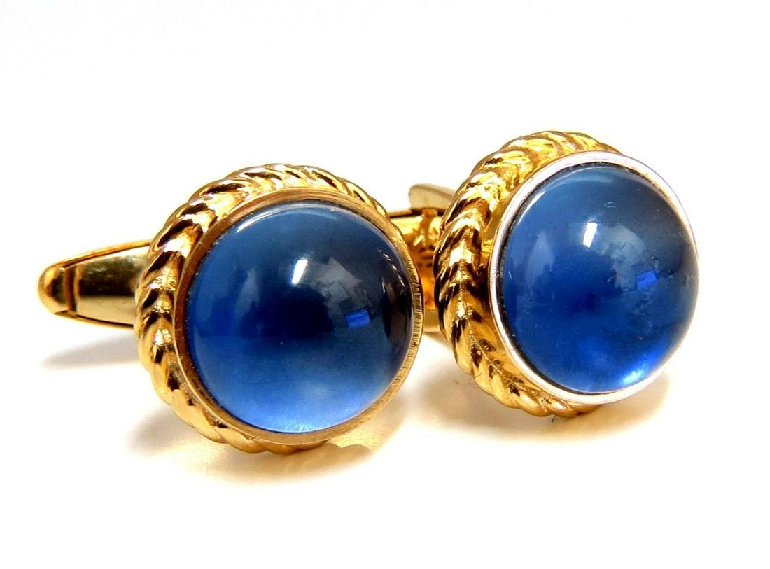 30ct Synthetic Sapphire Cufflinks 14kt