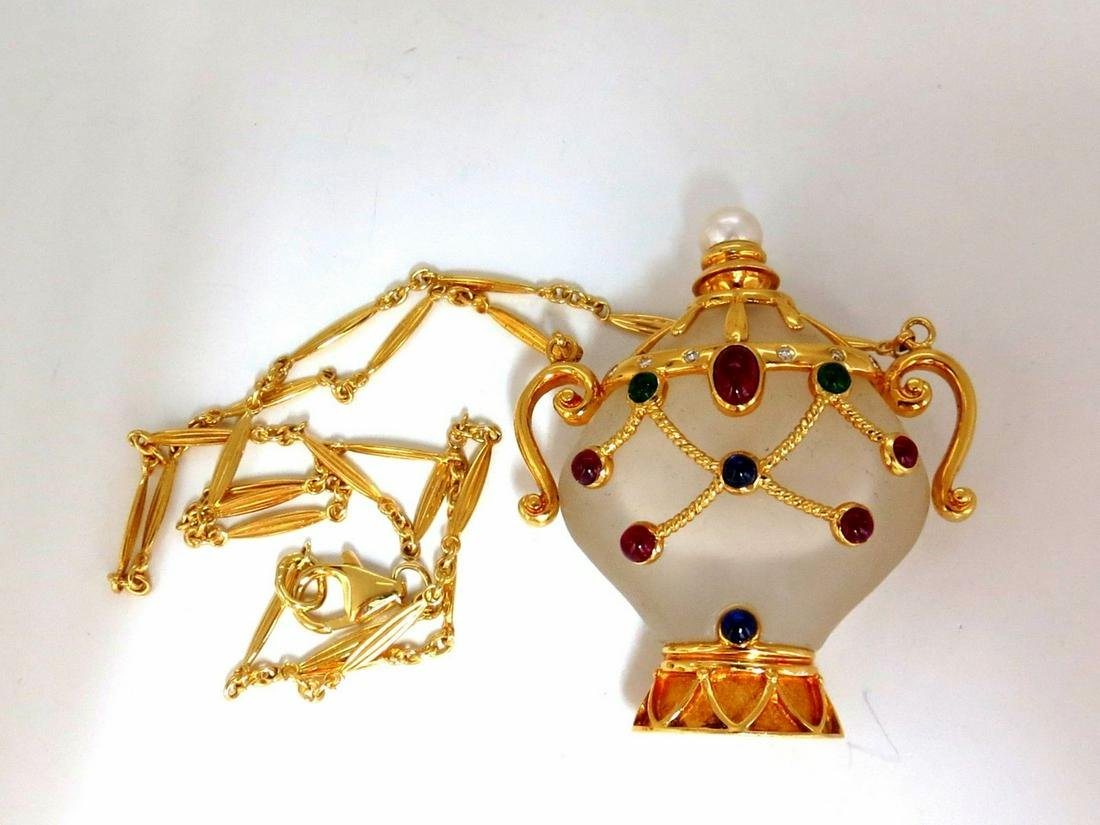 2.00ct Natural Sapphire Ruby Emerald Diamond Perfume