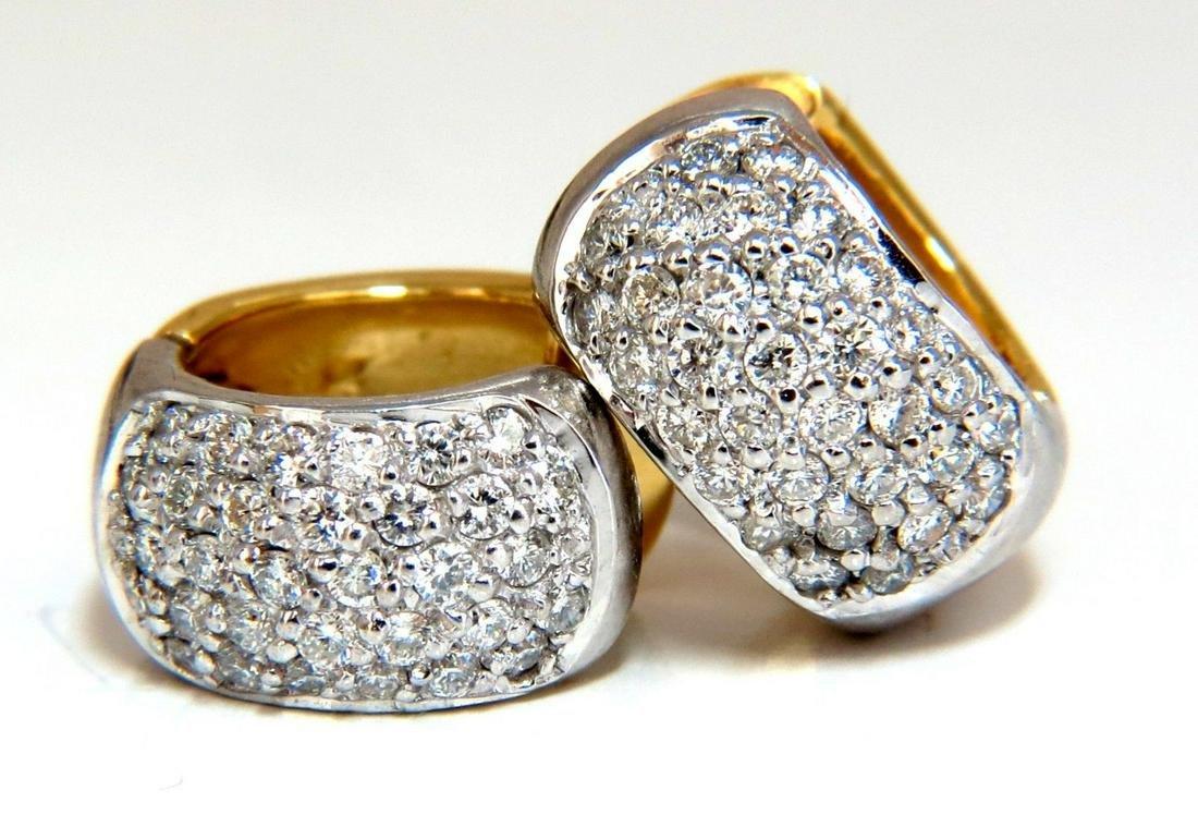 1.00ct round natural diamond huggie earrings 14 karat