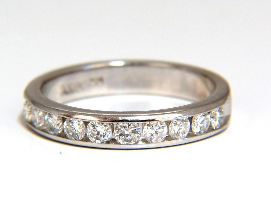 .58ct Natural Round Diamonds 10 Channel Band 14 Karat